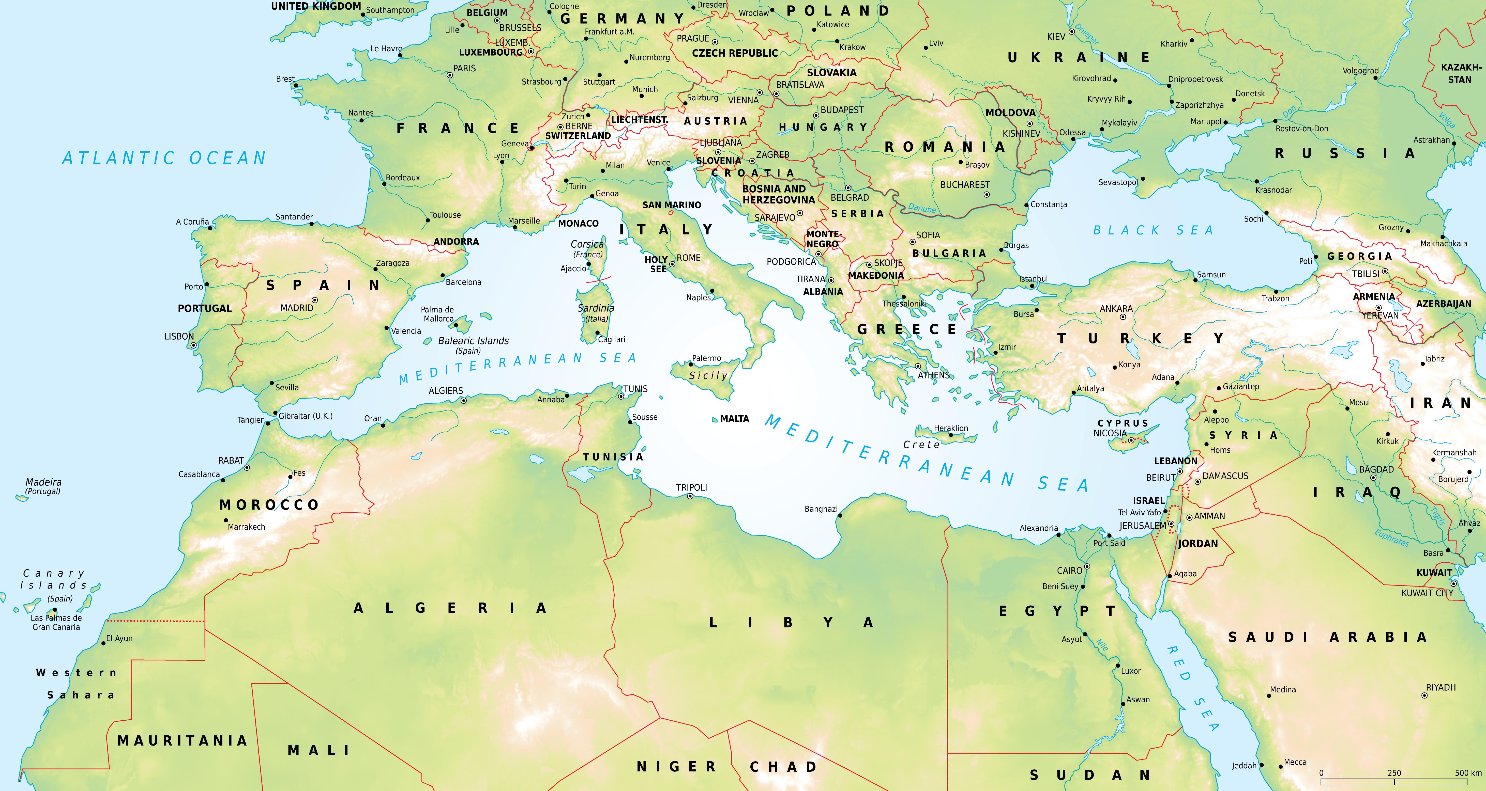 Mediterraneo Cartina.P O S 3 Miti Memorie Dal Mediterraneo Archeologia E Didattica