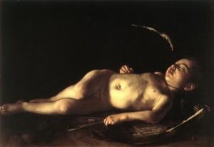 Caravaggio_sleeping_cupid 1608