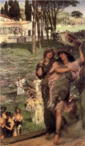 Alma Tadema On the road to the temple of Ceres 1879