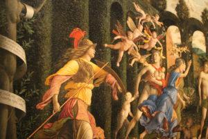 Andrea Mantegna, Minerva che scaccia i Vizi dal giardino delle Virtù (part.), 1497-1502